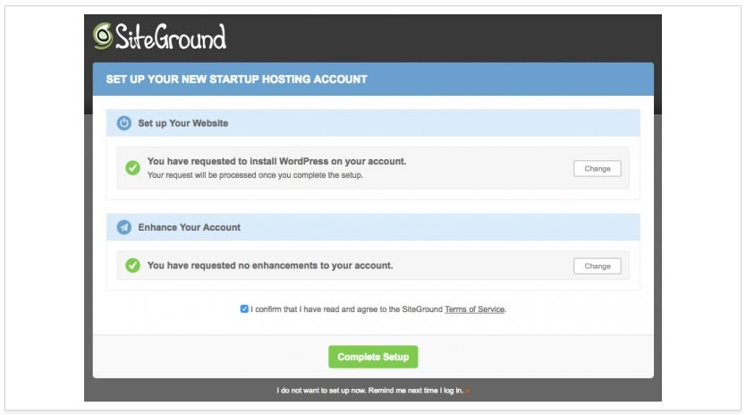 Next, choose what Enhancements you wish to add to your account - if you want to add any